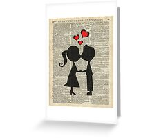 """I love you"" Cute Couple - Dictionary Art.Perfect Gift! Greeting Card"