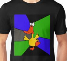 Funky Colorful Dancing Duck Abstract Unisex T-Shirt