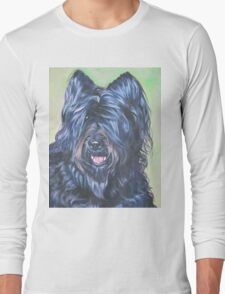 Briard Fine Art Painting Long Sleeve T-Shirt