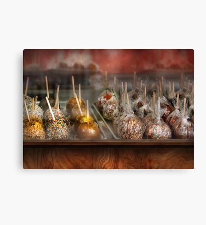 Chef - Caramel apples for sale  Canvas Print