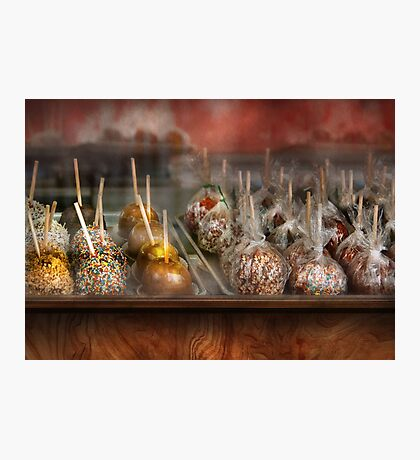 Chef - Caramel apples for sale  Photographic Print