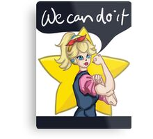 WE CAN DO IT! Princess Peach Metal Print