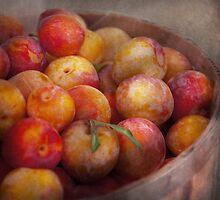 Food - Peaches - Farm fresh peaches  by Mike  Savad