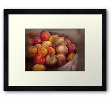Food - Peaches - Farm fresh peaches  Framed Print