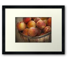 Food - Peaches - Just Peachy Framed Print