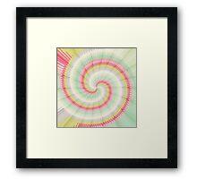 Hypnotizing spiral Framed Print