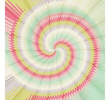 Hypnotizing spiral Photographic Print