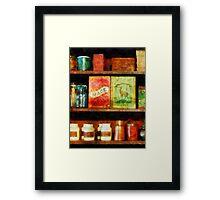 Spices on Shelf Framed Print