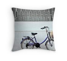 red ground bike Throw Pillow