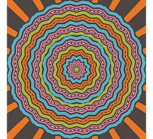 Retro kaleidoscope Photographic Print