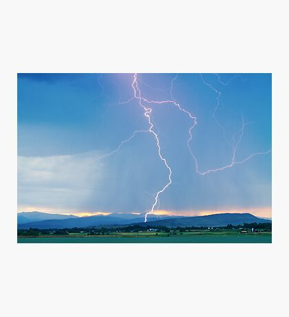 Rocky Mountain Front Range Foothills Lightning Strikes 1 Photographic Print