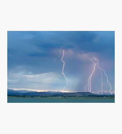 Colorado Rocky Mountains Foothills Lightning Strikes 2 Photographic Print