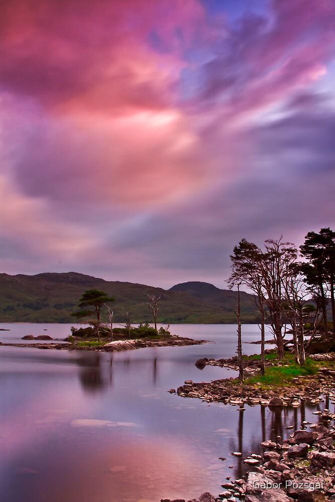 Sunset at Loch Assynt, Scotland by Gabor Pozsgai