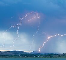 Rocky Mountain Front Range Foothills Lightning Strikes by Bo Insogna
