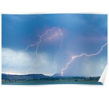 Rocky Mountain Front Range Foothills Lightning Strikes Poster