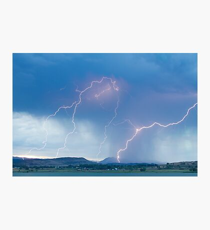 Rocky Mountain Front Range Foothills Lightning Strikes Photographic Print
