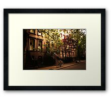 Summer in Greenwich Village Framed Print