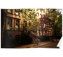 Summer in Greenwich Village Poster