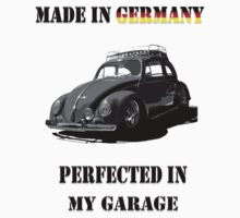 Made in Germany perfected in My Garage bug B&W One Piece - Short Sleeve