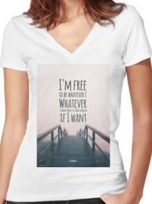 Oasis - Whatever Women's Fitted V-Neck T-Shirt