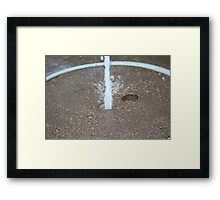 Shooting Water Framed Print
