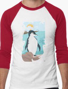 Penguin Vacation Men's Baseball ¾ T-Shirt