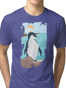 Penguin Vacation Tri-blend T-Shirt