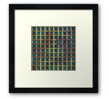 Square holes pattern Framed Print