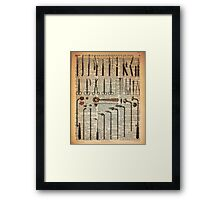 Vintage Medical Instruments Framed Print