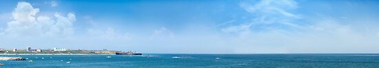 Panorama of Costinesti resort, Black Sea, Romania by wildrain