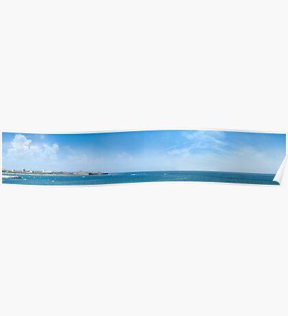 Panorama of Costinesti resort, Black Sea, Romania Poster