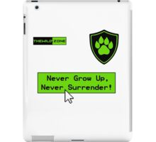 Wild Logo 'Never Grow Up!' Tee iPad Case/Skin