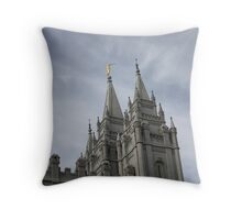 Blue Skies over Salt Lake Temple Throw Pillow