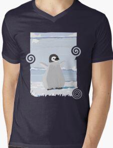 Penguin Kid Mens V-Neck T-Shirt