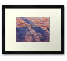 San Diego surfing waves, watercolor Framed Print