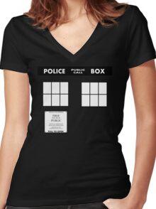 Tardis Door (Version 2) Women's Fitted V-Neck T-Shirt