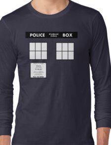 Tardis Door (Version 2) Long Sleeve T-Shirt