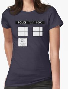 Tardis Door (Version 2) Womens Fitted T-Shirt