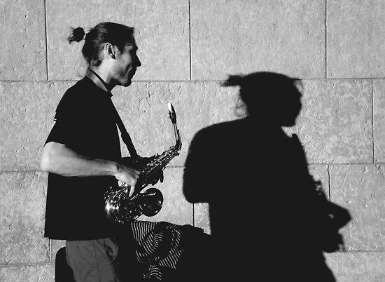 Sax by the Seine by Mojca Savicki
