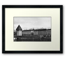 Water Tower Lucerne, Switzerland Framed Print