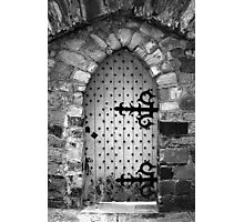Nail Studded Door Photographic Print