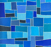 Dutch Blue - Brush And Gouache by RainbowArt