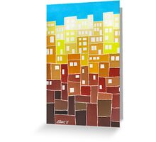 Fantasy Town - Brush And Gouache Greeting Card