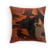 I'M LATE!!! I'M LATE!! ...A FUNNY Throw Pillow