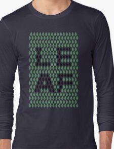Leaf Typography  Long Sleeve T-Shirt