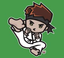 Martial Arts/Karate Boy - Jumpkick Kids Tee