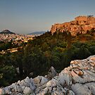 The Acropolis and Lycabettus Hill by Peter Hammer