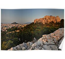 The Acropolis and Lycabettus Hill Poster