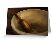 Pharmacy - Pestle - Mortar Grinder  Greeting Card