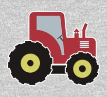 Red toy tractor One Piece - Long Sleeve